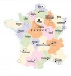 Carte de france activités ALFA Com2