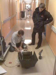 Intervention à l'hôpital de Pontoise
