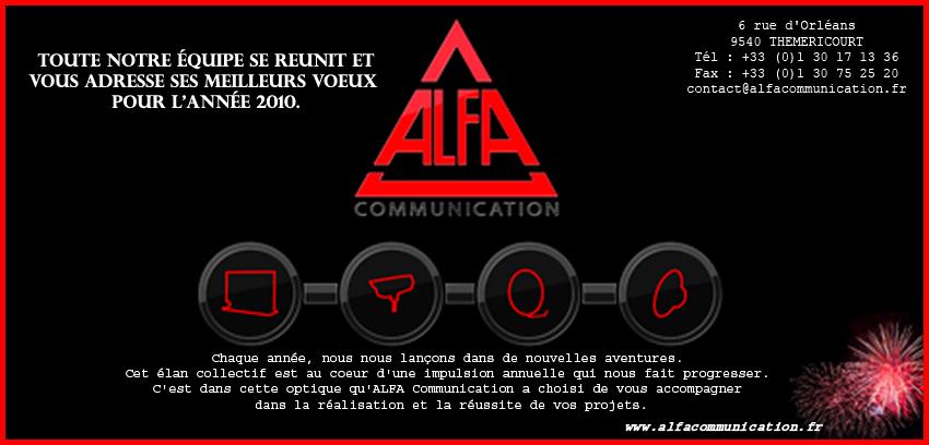 Carte de voeux ALFA 2010