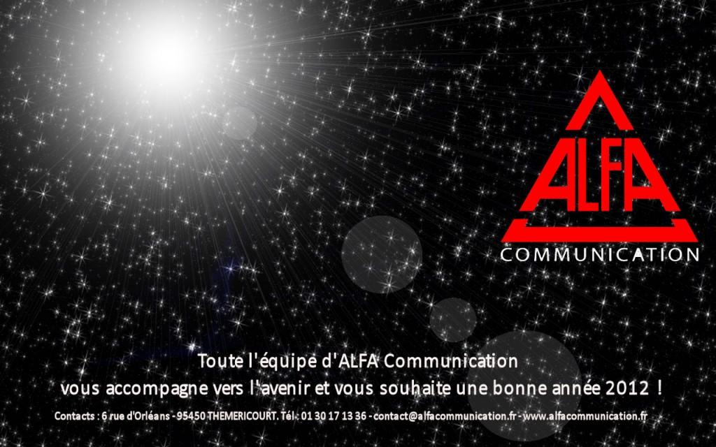 carte voeux alfa communication 2011